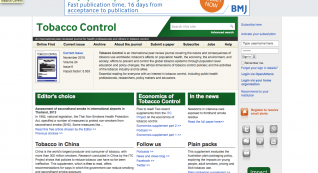 An international peer-reviewed journal for health professionals and others in tobacco control