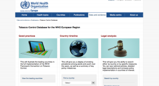 Tobacco Control Database for the WHO European Region
